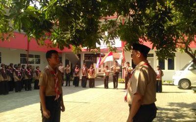 Kegiatan Persami Pramuka Penggalang SMP Telkom Sekar Kemuning Cirebon