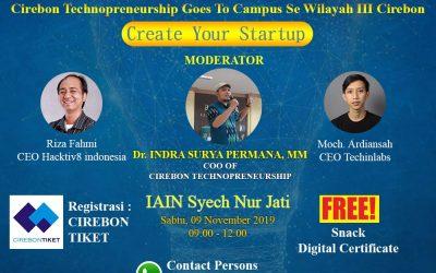 Seminar Nasional Cirebon Technopreuneurship Goes to Campus se-Wilayah III Cirebon