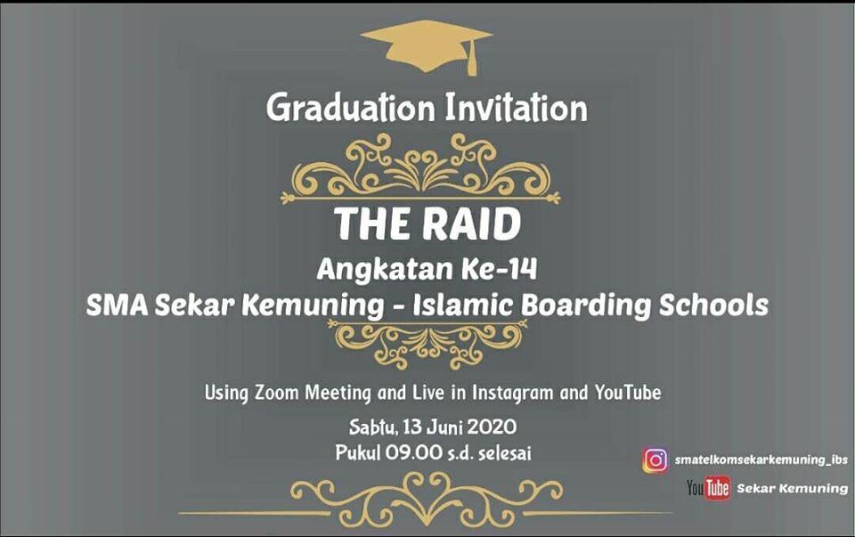 Graduation Online SMA Telkom Sekar Kemuning Cirebon 2019/2020