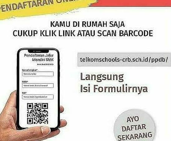 PPDB SMK Telkom Cirebon menyesuaikan protokol kesehatan COVID-19